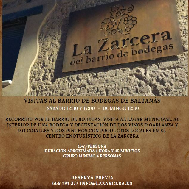 """Nuevo horario de primavera en """"La Zarcera"""". Enoturismo más allá del vino"""
